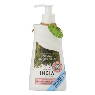 Incia Sensitive Skin Olive Oil Natural Liquid Soap 250ml Renksiz